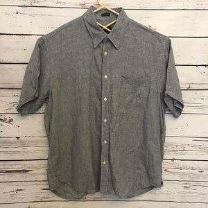 Orvis signature collection linen blue shirt b25